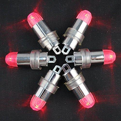 12 Stücke Mini Batteriebetriebene LED Ballon Lichter Nicht Blinzelnde Party Lichter Für Papierlaternen Ballons LED-Licht, Hochzeit Dekoration Licht + 12 Stücke Ballons (Rot)
