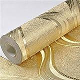 qin-er-2019 Wall wallpaper Papier Peint Halloween Vinyle Papier Peint métallisé argenté/doré de pour Papier Peint à Rayures géométriques@A07902