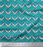 Soimoi 42 Zoll breit Designer Ikat-Druck durch Das
