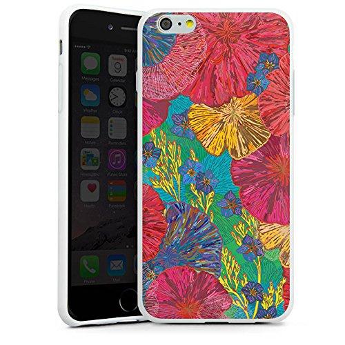 Apple iPhone X Silikon Hülle Case Schutzhülle Kunst Blumen Muster Silikon Case weiß