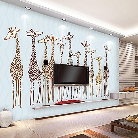 Huangyahuisimple Kinderzimmer Tapete, Mädchen, Jungen Tapeten, Non-Woven Schlafzimmer, Cartoon Giraffe Wallpaper 200 Cmx 140 Cm