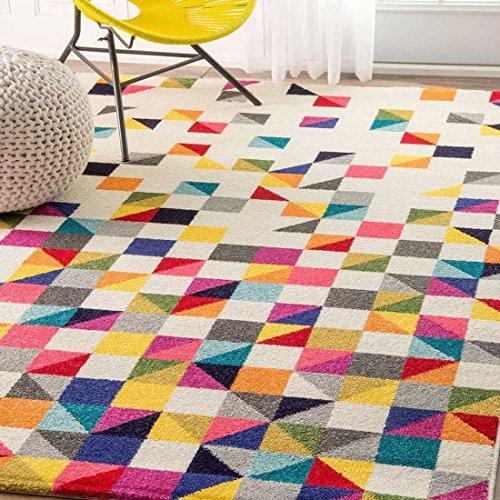 UN AMOUR DE TAPIS - alfombra de salón detru boutik negro, blanco, rosa, azul, gris, amarillo, naranja...