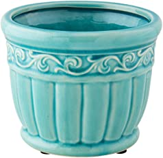 Chumbak Pumpkin Planter - Teal