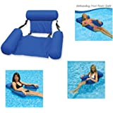 Pool Lounger Galleggiante Acqua Amaca Gonfiabile Zattere Piscina Aria Divano Galleggiante Sedia per Piscina Newin Star Gonfiabile Lounger Spiaggia Blu