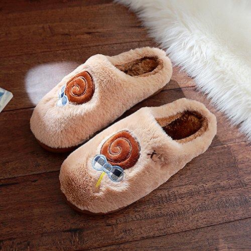 DogHaccd pantofole,Cartoon carino inverno pantofole di cotone felpato uomini e antiscivolo indoor home spesso coppie femmina soggiorno E COLORE3