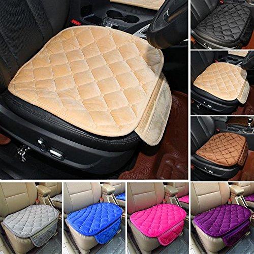 Sedeta Coussin de protection de siège avant de véhicule Housse de siège rembourrée Housse de siège couvre coussins Soie douce confortable dans l'intérieur de l'automobile de couleur crème