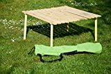 dobar klappbar Tiefer Campingtisch aus Holz inklusive Tragebeutel, 94380e Test