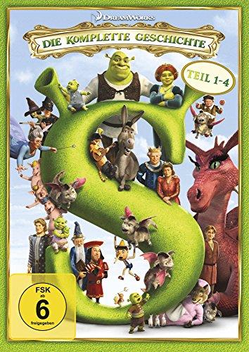 Dvd-filme, Shrek (Shrek - Die komplette Geschichte, Teil 1-4 [4 DVDs])