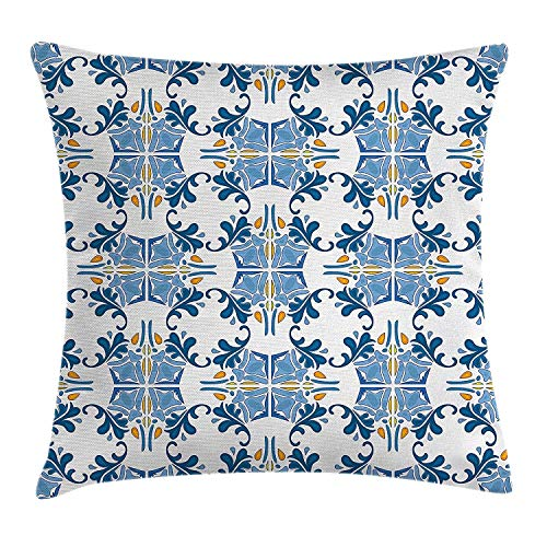 artyly Kissen Kissenbezug Römischer Fliesen-Mosaik-Entwurf mit berühmtem kunstvollem Ostinspiriertem Bild Decor Square Accent Pillowcase 45x45 cm - Römisches Mosaik Fliese