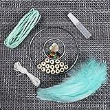 YIWAN Handmade Dream Catcher Wall decorationFeather Dreamcatcher handgemachtes Windspiel Sansheng III grünes Materialpaket