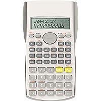 Helect 2-Linea Calcolatrice Scientifica di Ingegneria, Idoneo per la Scuola e Impresa, Bianca