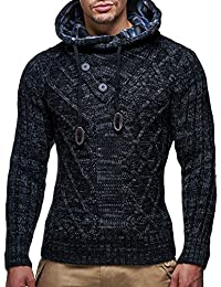 LEIF nELSON lN10346 pull-over en maille pour homme