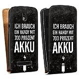 DeinDesign HTC Desire 500 Tasche Hülle Flip Case Akku Handy Sprüche