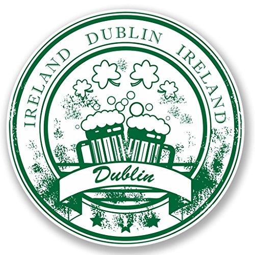 Preisvergleich Produktbild 2x Dublin Irland Vinyl Aufkleber Aufkleber Laptop Reise Gepäck Auto Ipad Schild Fun # 4465 - 10cm/100mm Wide