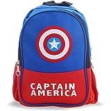 YUIP Mochila Capitán América Mochilas Infantiles Bolsa Escuela Mochila para Niños de Libro de Jardín de Infantes Ajustables M
