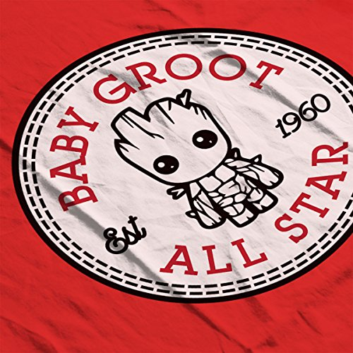 Guardians Of The Galaxy Baby Groot All Star Converse Men's T-Shirt Red
