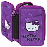 Scooli HKAZ0430 Doppeldecker Schüleretui Hello Kitty mit Stabilo Markenfüllung