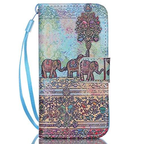 LSY® Apple iPhone 5G 5S Schutzhülle Flip PU Ledertasche Ständer Schutzhülle Tasche Hülle Case Cover mit Kredit karten steckplätze für Apple iPhone 5G 5S (A2)