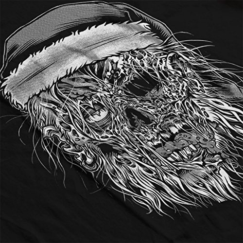 Zombie Santa Women's Hooded Sweatshirt Black