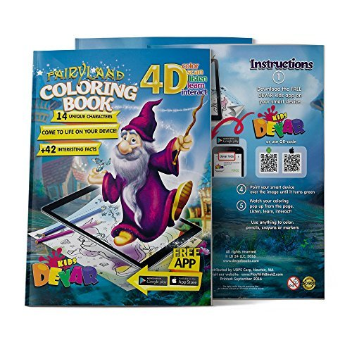 Devar Kids Augmented Reality libro de colorear Fairy Land Coloring Book