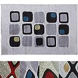 Design Teppich Cubes | moderner Wohnzimmerteppich mit Trend Muster | in 2 Größen und vielen Farben für Wohnzimmer, Esszimmer, Schlafzimmer etc. | creme / grün / blau 120x170 cm