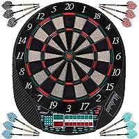 Physionics® Diana Electrónica | 28 Juegos y Muchas Variaciones | Inc. 12 Dardos con 100 Puntas de Repuesto | LCD Juego de Dardos Automática, Dartboard, Darts