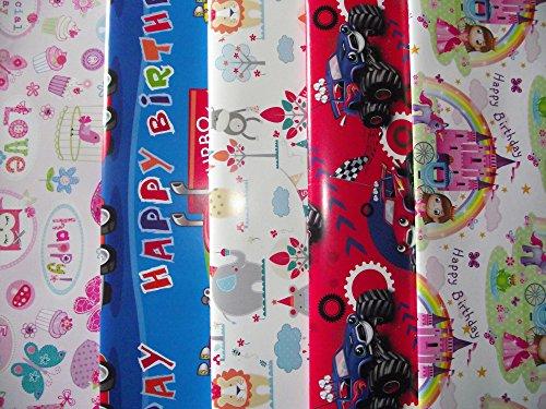 10fogli-di-carta-da-regalo-per-bambini-motivo-pirati-principessa-ballerina-pasticcini-cupcake-gru-es
