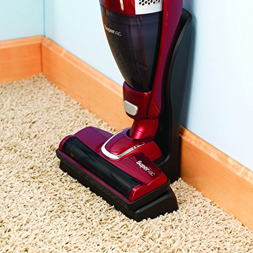 Morphy Richards 732005 2-in-1 Supervac Cordless Vacuum Cleaner, 18 V – Red by Morphy Richards
