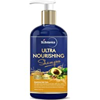 StBotanica Ultra Nourishing Hair Shampoo - 300ml For Dry, Normal Hair - No SLS/Sulphate, No Parabens, No Silicon