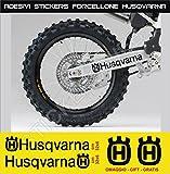 Aufkleber stickers HUSQVARNA Fahrradgabel moto decal bike-Motorrad- Cod. 0647 (Nero cod. 070)