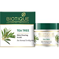 Biotique Tea Tree Skin Clearing Face Scrub for Normal to Oily Skin, 50g