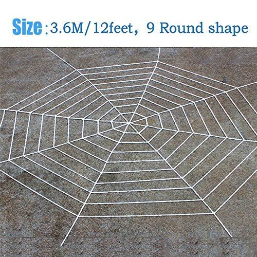 pinnen Web, Halloween Horror Dekoration Samt Spinnennetz Halloween Spinnennetz Spinnennetz Riesengarn Haus Dekor Requisiten Weiß 3.6M ()
