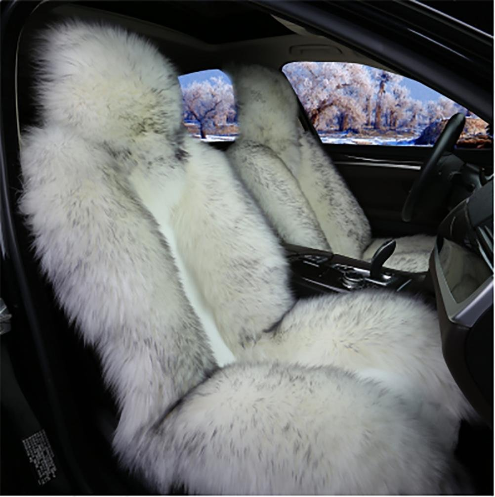 RUIRUI Coperture di sedile in pelle australiana di lusso per auto universale , gray