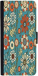 Snoogg Colorful Floral Seamless Pattern In Cartoon Style Seamless Pattern Designer Protective Phone Flip Case Cover For Xolo One Hd
