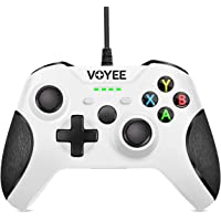 VOYEE Enhanced Wired Controllers Compatible with Xbox One Controller with 3.5MM Stereo Headset Jack, Upgraded Gamepad…