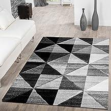 Designer Teppich Wohnzimmer Piramide Design 3D Optik Grau Creme AUSVERKAUF, Größe:60x110 cm