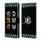 Head Case Designs Offizielle Monster Hunter World Alter Wald Ikonen Brieftasche Handyhülle aus Leder für Sony Xperia XZ Premium