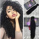 Moresoo 22Pollice 55cm  1B Hair Bundles Extension Capelli Veri Remy Ricci Kinky  Curly 3d755d1fa6b4