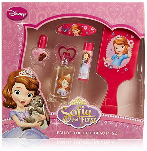 Disney Sofia the First Coffret cadeau, eau de toilette, cosmétique et cheveux, 1er Pack (1 x 5 pièces)