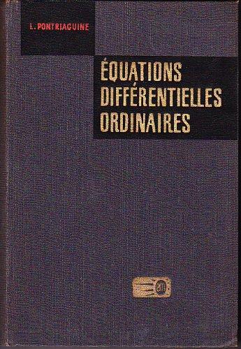 Equations différentielles ordinaires par Pontriaguine (L.)