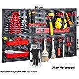 Herramientas pared Paneles Juego de 26piezas 2x 25x 80cm Negro Rojo PP