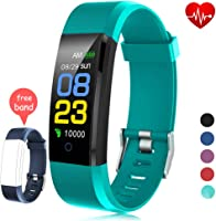 Fitness Tracker Waterproof, Activity Tracker Watch con monitor de ritmo cardíaco, banda inteligente con monitor de...