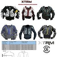 XTRM MOTOCROSS BAMBINI PETTORINA MOTO CORAZZA OFF ROAD QUAD PITBIKE KIDS DORSALI ARMOUR (6anni /S, BIANCO ROSSO)