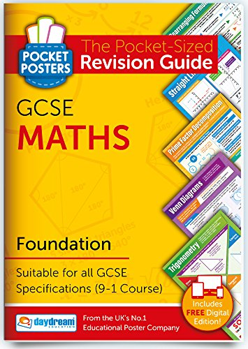 GCSE Maths (Foundation) | Pocket Posters: The Pocket-Sized Maths Revision Guide | 9-1 GCSE Specification | Includes FREE digital edition available for computers, smart phones and tablets, with over 1,000 assessment questions!