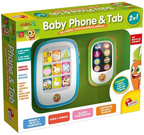 LISCIANI JUEGOS 51458 - BABY ZANAHORIA BEBE 2 EN 1 TELEFONO Y TAB HABLAR JUGUETE MULTIFUNCION