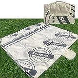 JEMIDI Riesen Picknickdecke XXL 200cm x 200cm & 180cm x