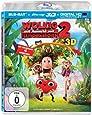 Wolkig mit Aussicht auf Fleischbällchen 2 (3D + 2D Version (2 Discs)) [3D Blu-ray]