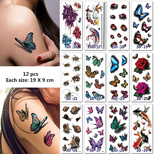 re Tattoos, Abdeckung Narben Tattoos, Kratzer Aufkleber, Schminke Scars Tattoo für Cosplay und Halloween Kostüm Makeup (2) ()