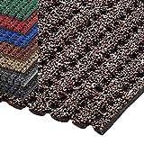 etm® Sicherheitsmatte gegen Glätte | rutschfeste Granulat Beschichtung | deutsches Qualitätsprodukt | 120 cm Breite | viele Farben und Längen (1,5 m Länge, braun)