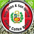 Peru Organic FairTrade Arabica Raw Green Coffee Beans 1kg by Evocoffee